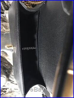NWT CHANEL Black Caviar MEDIUM Boy Bag GOLD 2018 Crossbody NEW RARE CLASSIC FLAP