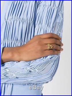 NewWOT Designer Aurelie Bidermann Tangerine Ring 18 K Gold Vermeil from France