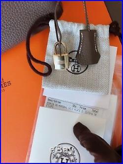 New Authentic Hermes Etoupe Togo Birkin 30 Gold Hardware Kelly Gris Tourterelle