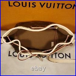 New Authentic Louis Vuitton Nano Noé Monogram Shoulder Bag Pouch Neo Noe M41346