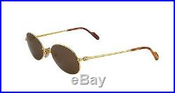 New Cartier Oval Sunglasses T8100370 Gold Frame Brown Lens France