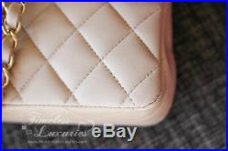 New Chanel Beige Clair Classic Double Flap Bag Gold Hw #16517430