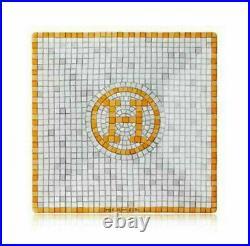 New Hermes Mosaique Au 24 Gold Square No. 1 Plate #p026041p Brand Nib Save$ F/sh