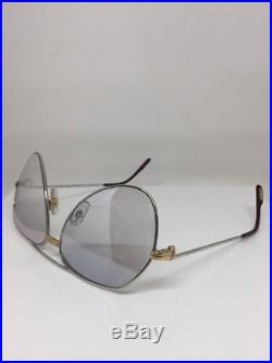 New Vintage Cartier Aviator Platinum 62mm Large Vendome Sunglasses France
