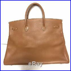 Nice authentic HERMES Birkin40 Bag Size 40 In Couchevel Leather