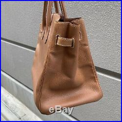Nice authentic HERMES Birkin 35 In Couchevel Leather A 1997