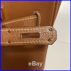 Nice authentic HERMES Birkin 35 In Couchevel Leather Y 1995 Year