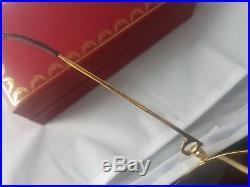 Occhiali Cartier Vendome Brown Lens Vintage Sunglasses France 18k Gold