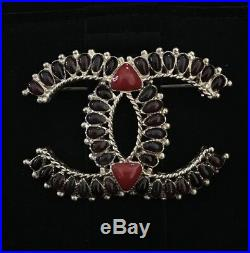 Only 1 New NIB CHANEL Large Jumbo CC Gem Gold Tone Victorian Style Pin Brooch