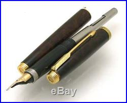 PARKER 75 Thuya Laque Gold Trim Fountain Pen Medium Nib Made in France