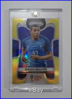 Panini Prizm World Cup Soccer Russia 2018 Kylian Mbappe GOLD France 04/10 Rare