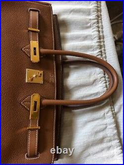 Preowned Hermes Birkin 35 Gold Togo With Gold Hardware MINT