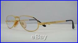 RARE VINTAGE ETTORE BUGATTI EB 501 301 Gold Reading Glasses Eyeglasses Frames 54