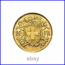 Random Year 20 Swiss Franc Gold Coin