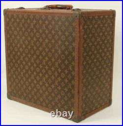Rare 5 piece Louis Vuitton Group of Classic Gold Leaf Monogram Luggage with Keys