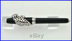 Rare Cartier Exceptional Panthere Decor Initiated Fountain Pen 18k Gold Le188