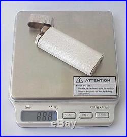 Rare Cartier Gas Lighter Paris France 925sterling Silver Briquette Gold Box