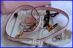 Rare Hermes Kelly ROSE SAKURA Retourne SWIFT Gold 25 MINT bag purse receipts