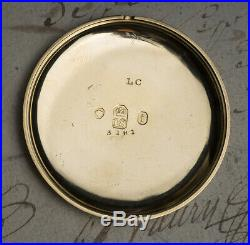 Rare PUMP WINDING 18k GOLD Antique Pocket Watch By CHARLES VINER LONDON 1820s