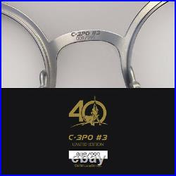 STAR WARS C-3PO SUNGLASSES LIMITED EDITION 40th ANNIVERSARY