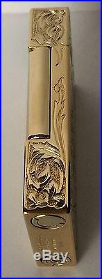 ST Dupont 30 Pc. L. E. By Fred Krill Blazon L-2 Yellow Gold Lighter 16913 NIB