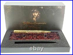 S. T. DUPONT 265101 Pirates Of The Caribbean Yellow Gold Ballpoint Pen Authentic