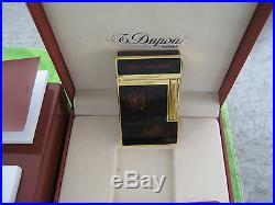 S. T. Dupont Briquet L2, Gold With Black Laque Gold Dust Nib Rare 016890 France