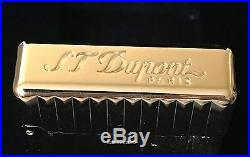 S. T. Dupont Golden Bronze Initial Ligne Vertical Lines Lighter ST020803, NIB