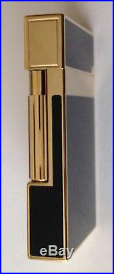 S. T. Dupont Ligne 2 Black Chinese Lacquer With Gold Accents, ST016884 New In Box