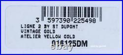 S. T. Dupont Ligne 2 Brushed Gold Atelier Lighter, 16125 (016125), New In Box