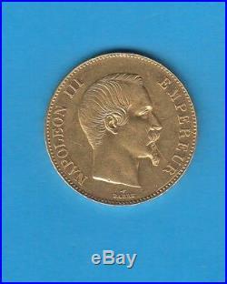 Second Empire 100 Francs or tête nue Napoléon III 1858 A Paris Gold coin