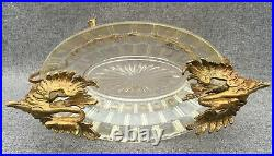 Small antique french Napoleon III bowl cup 19th century gilded bronze chimeras