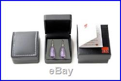 Solid 14k 18k Gold Premium Rose de France Amethyst Earrings Now Leverback Option