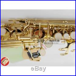 Soprano Saxophone France Selmer 802 Drop Bb Electrophoresis Gold Double Neck Sax