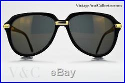 Sunglasses Cartier Vitesse Vintage Black Color NOS Very Rare News Kanye West