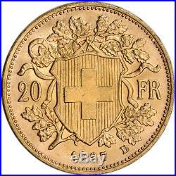 Swiss Gold 20 Francs Helvetia BU Random Date