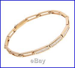 Tiffany & Co. 18K Yellow Gold Diamond Bracelet, RETIRED, Made in France