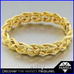 Tiffany & Co France 18k Yellow Gold Braided Bracelet 7