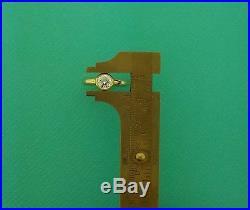 Tiffany & Co. France. 94ct Round G VVS2 Diamond Bezel Ring 18K Yellow Gold GIA