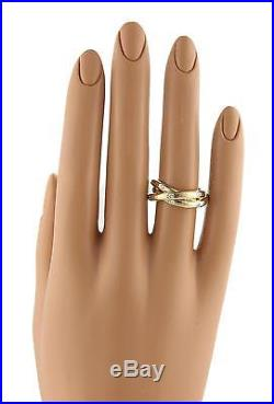 Tiffany & Co. France Diamonds 18k Gold 3 Interlaced 5.5mm Band Ring Size 6.5