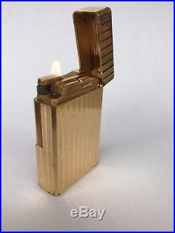 VINTAGE S. T. DUPONT FRANCE PARIS GOLD PLATED LIGHTER Cigarette Cigar Line 1