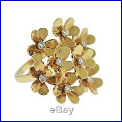 Van Cleef & Arpels Frivole Diamond Gold Ring