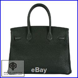 Vert Fonce Birkin 30cm Hermes Forest Green Togo Leather Bag Gold Ghw