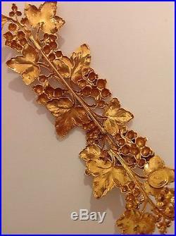 Very Rare 80's Dominique Aurientis Paris France Gold Roman Inspired Shoulder Pin