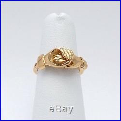 Victorian 18k Gold Claddagh Fede Gimmel Secret Heart Hands Wedding Band Ring