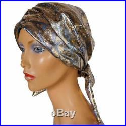 Vintage 1960s SCHIAPARELLI Paris TURBAN Hat Gold LAME Small