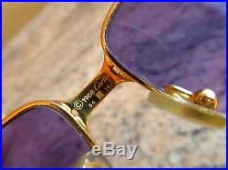 Vintage 24K Rolled Gold Must De Cartier Panthere 1988 Sunglasses Glasses Frames