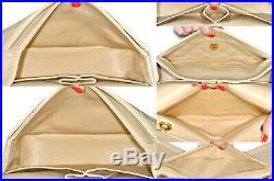 Vintage CHANEL 9 2.55 Quilted Lambskin Double Flap Beige / Nude Handbag Bag
