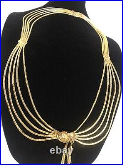 Vintage CHRISTIAN DIOR Gold Chain Waist Belt/Necklace Small