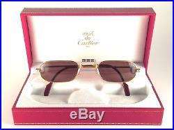 Vintage Cartier Demi Lune Santos 50mm Reading Sunglasses France Gold Plated18k